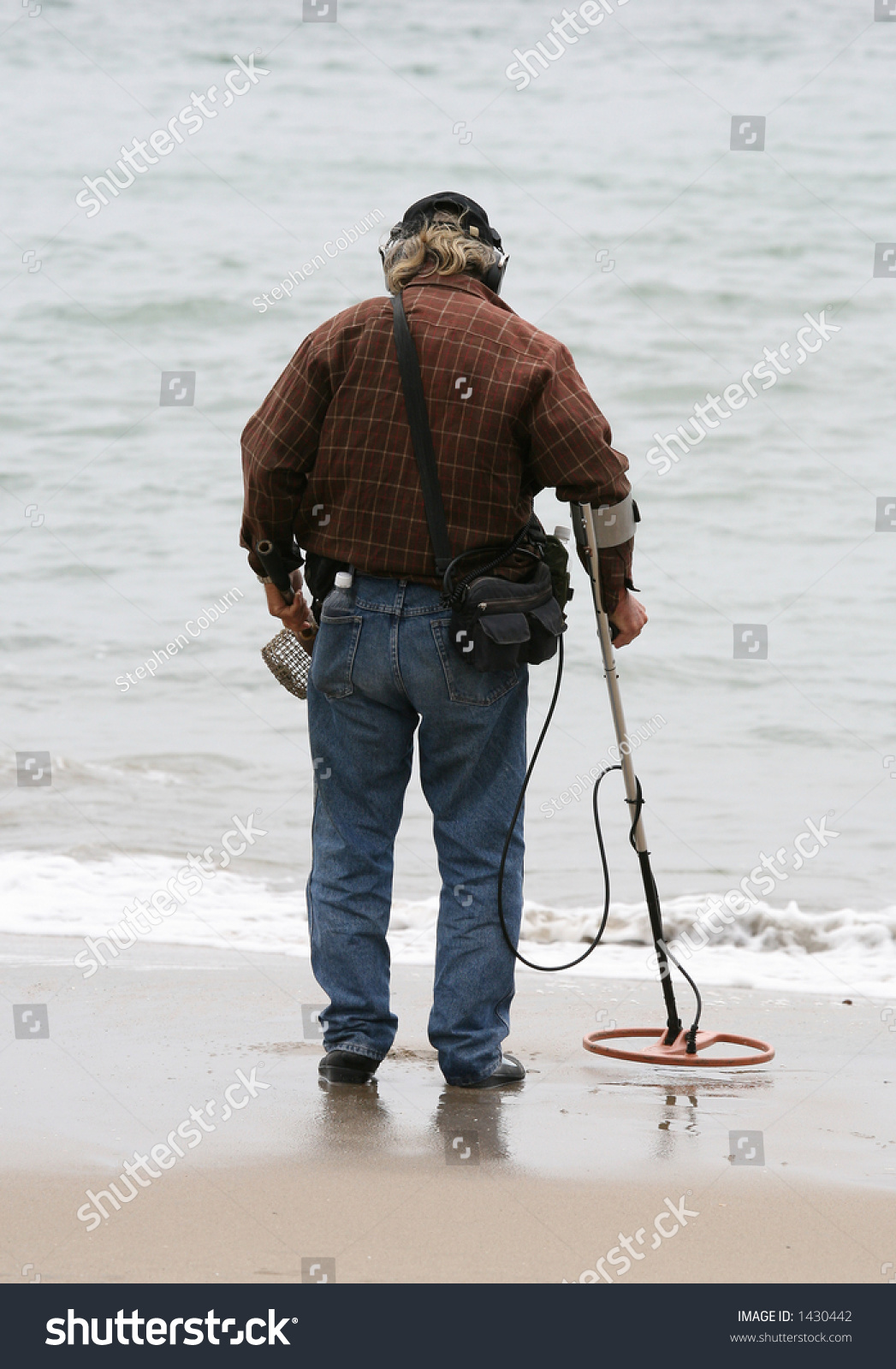 Jew Detector: Man With A Metal Detector Searching For The Mother Lode