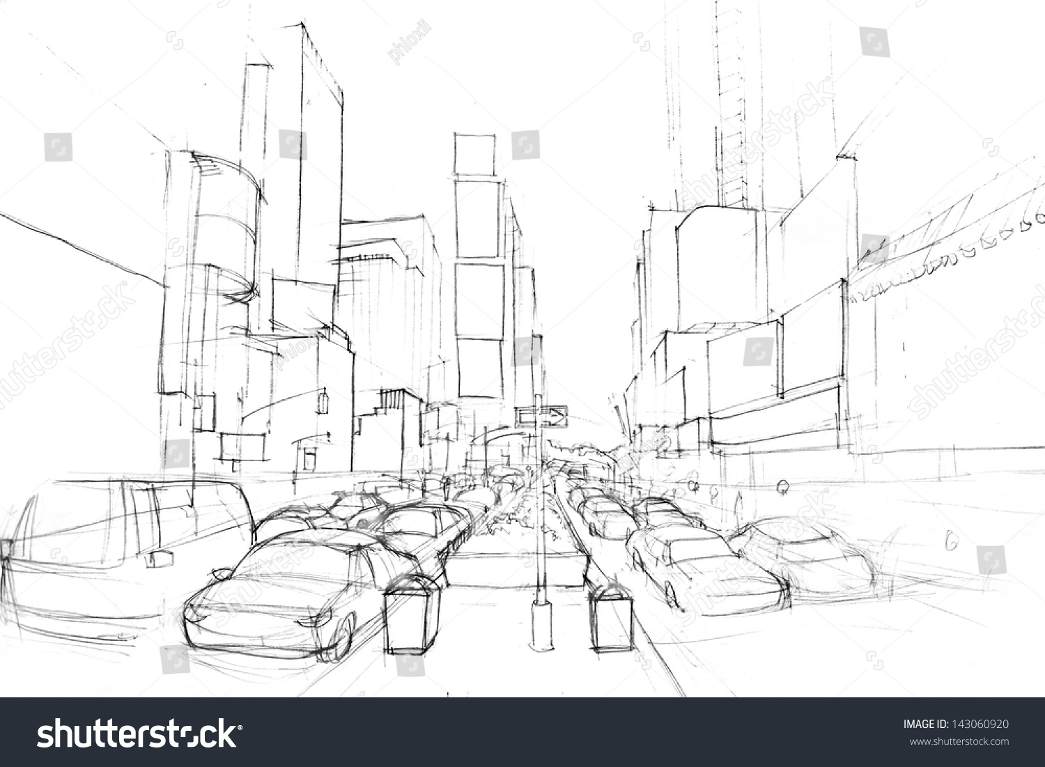 how to draw a cityscape