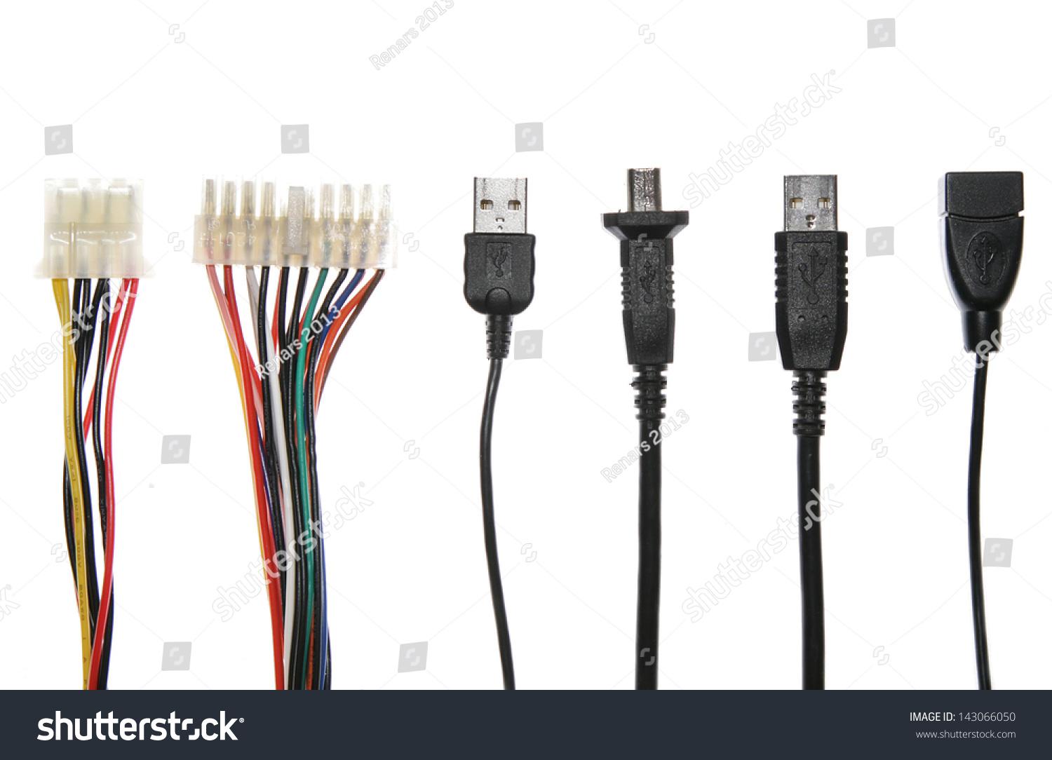 Computer Cables Information Wires Transfer Information Stock Photo ...