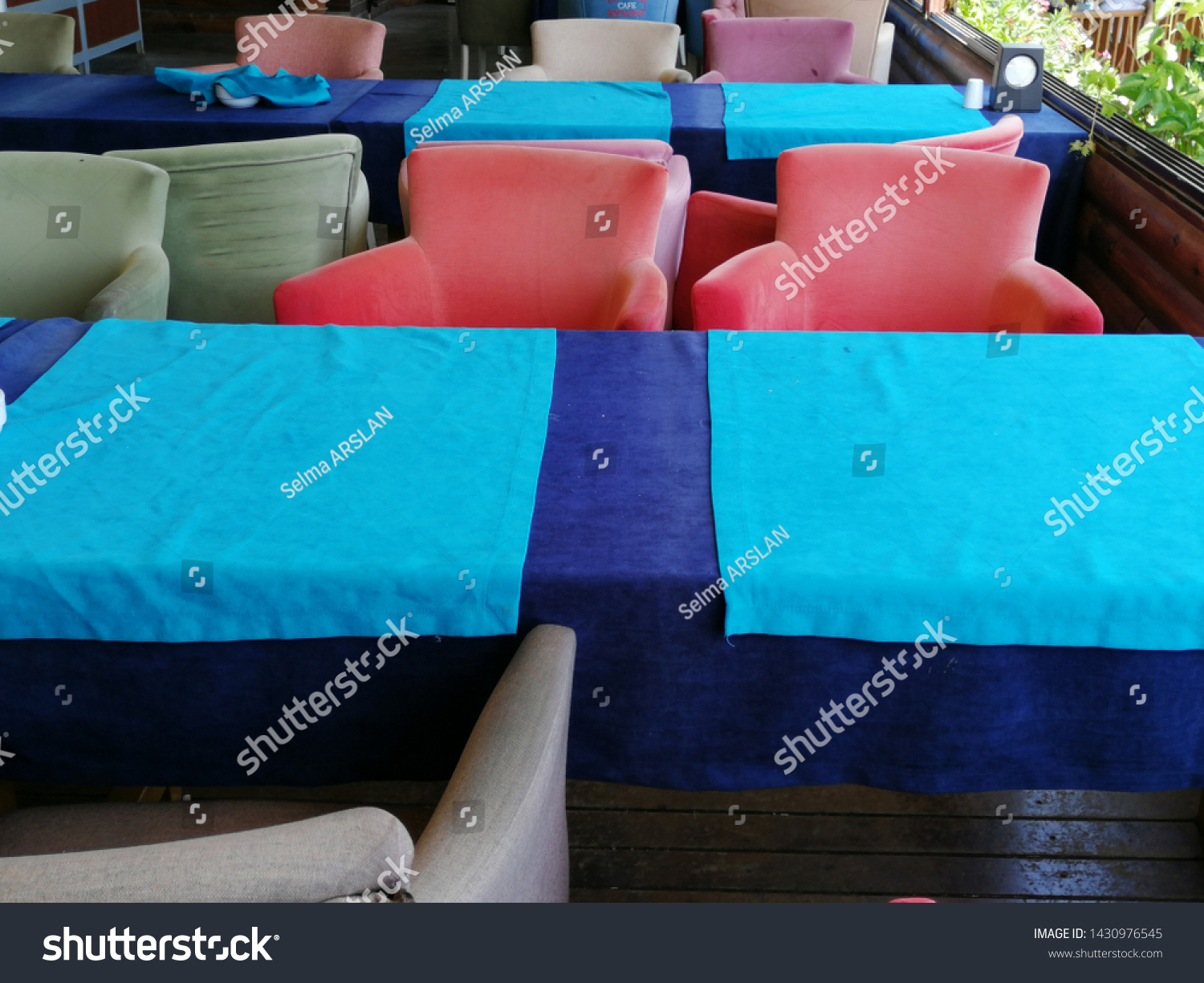 Colorful and comfortable armchair and armchairs #1430976545