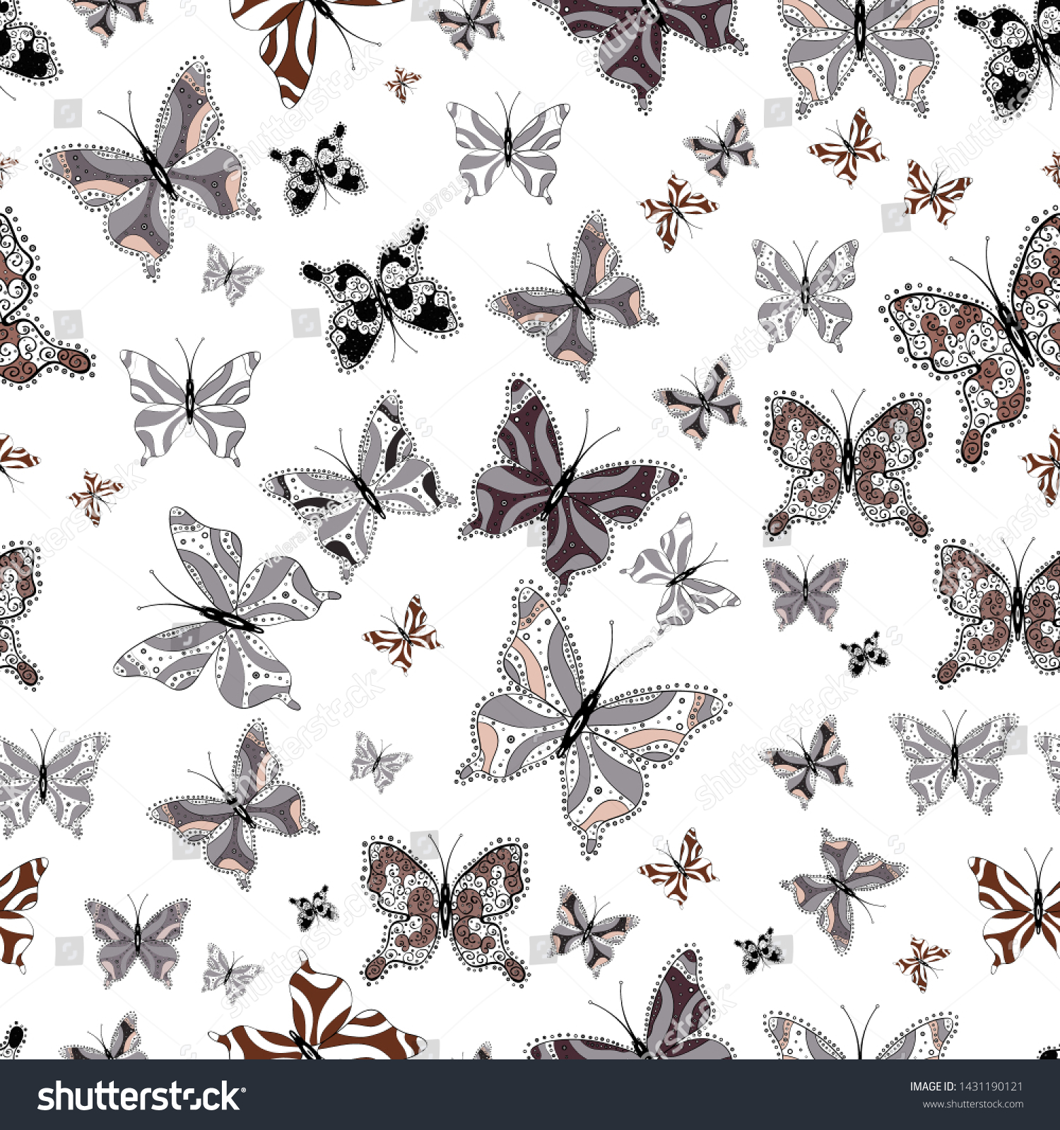 Fantasy Cute Illustration Abstract Seamless Pattern Stock Vector