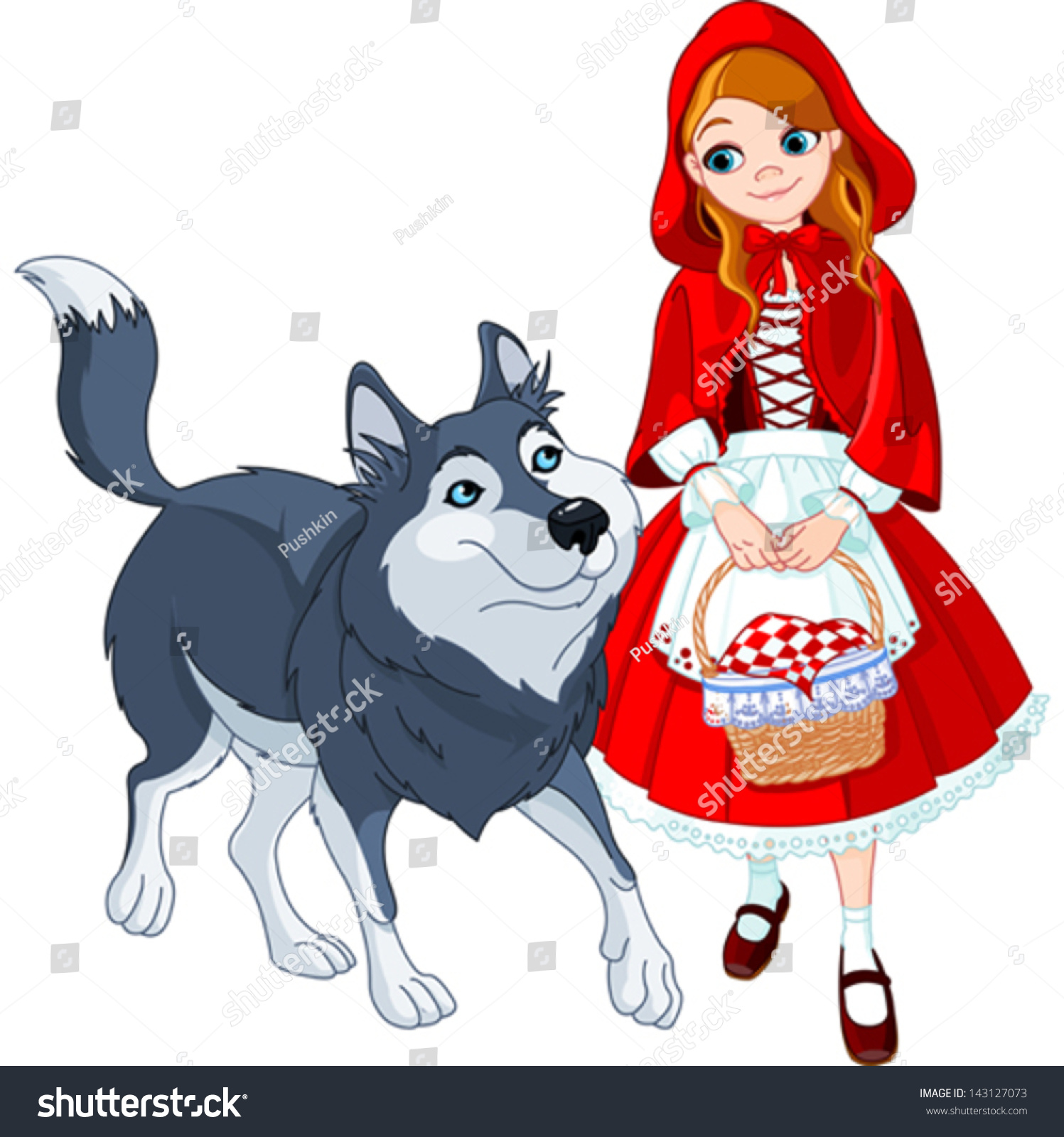 image Little red riding hood and snow white