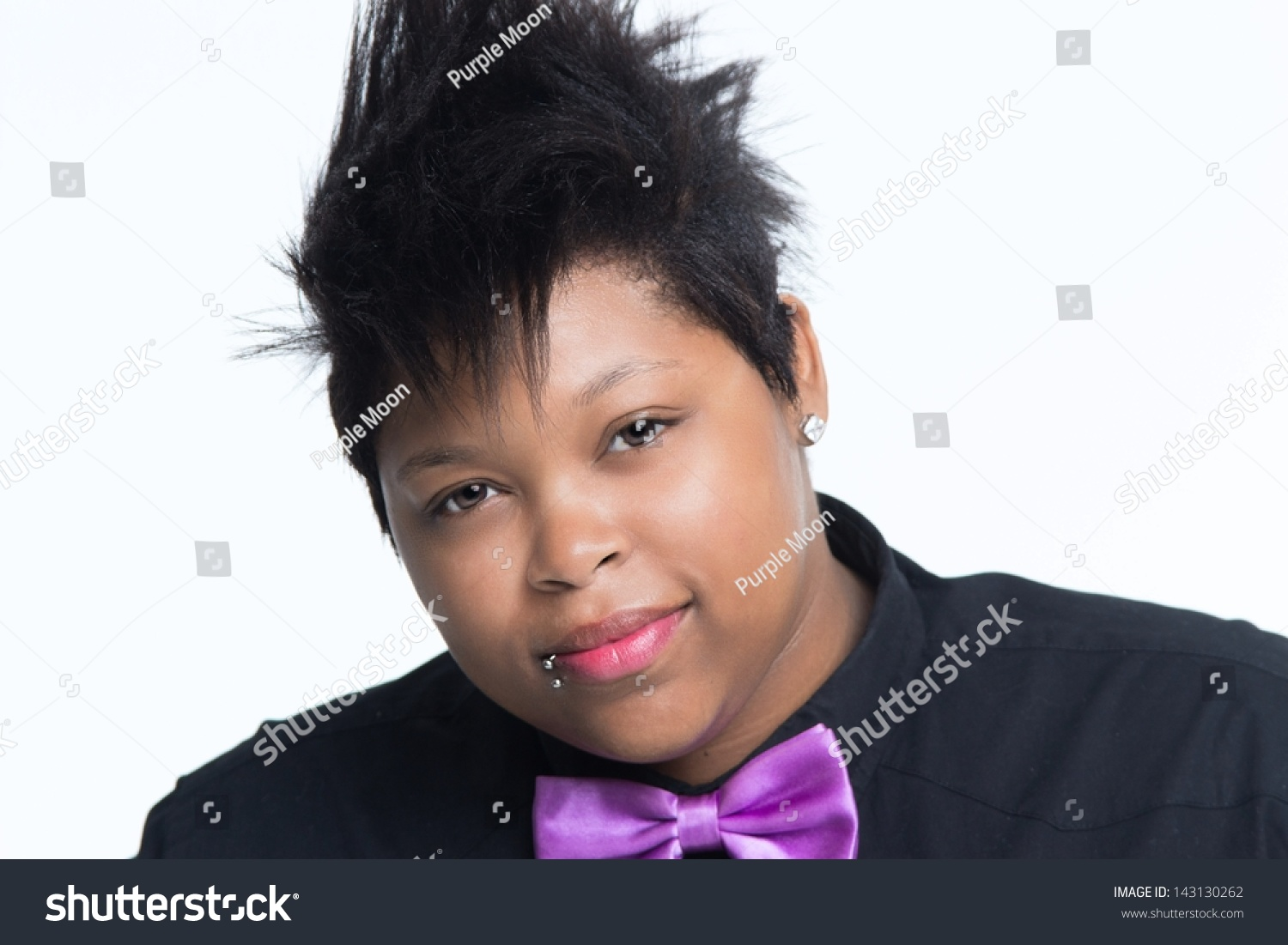 Young African American Woman Mohawk Haircut Stock Photo Edit Now
