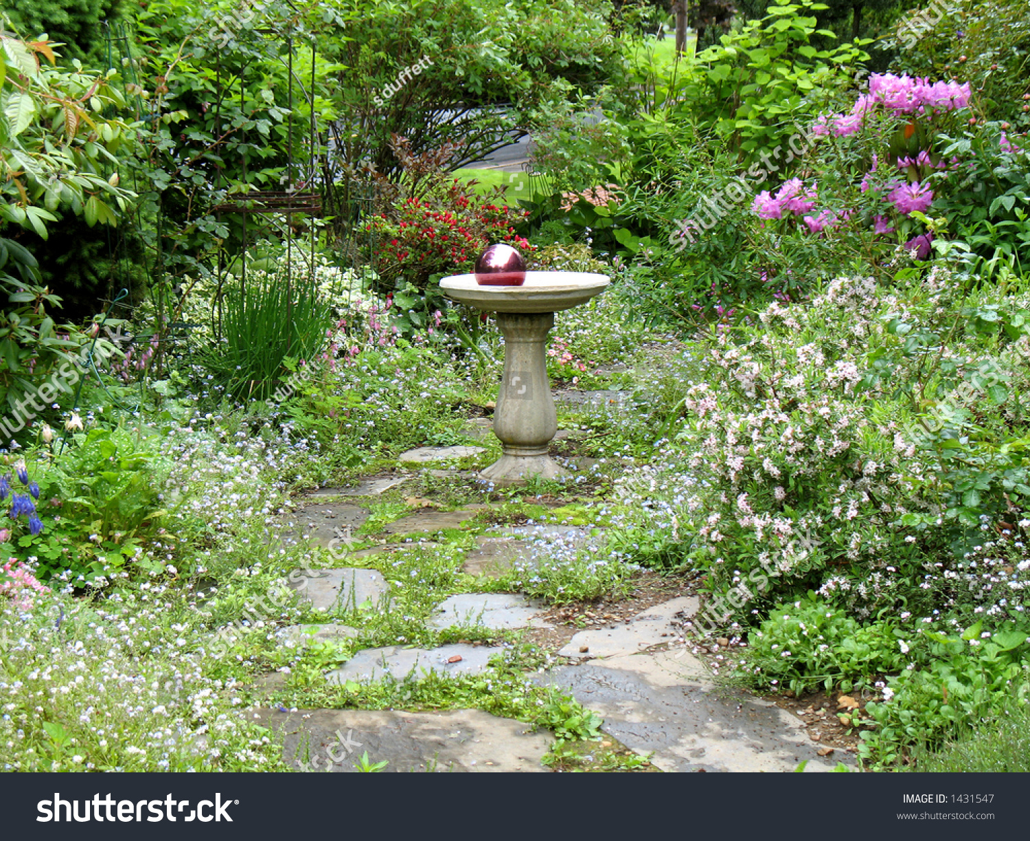 Gazing Ball English Country Garden Stock Photo 1431547 Shutterstock