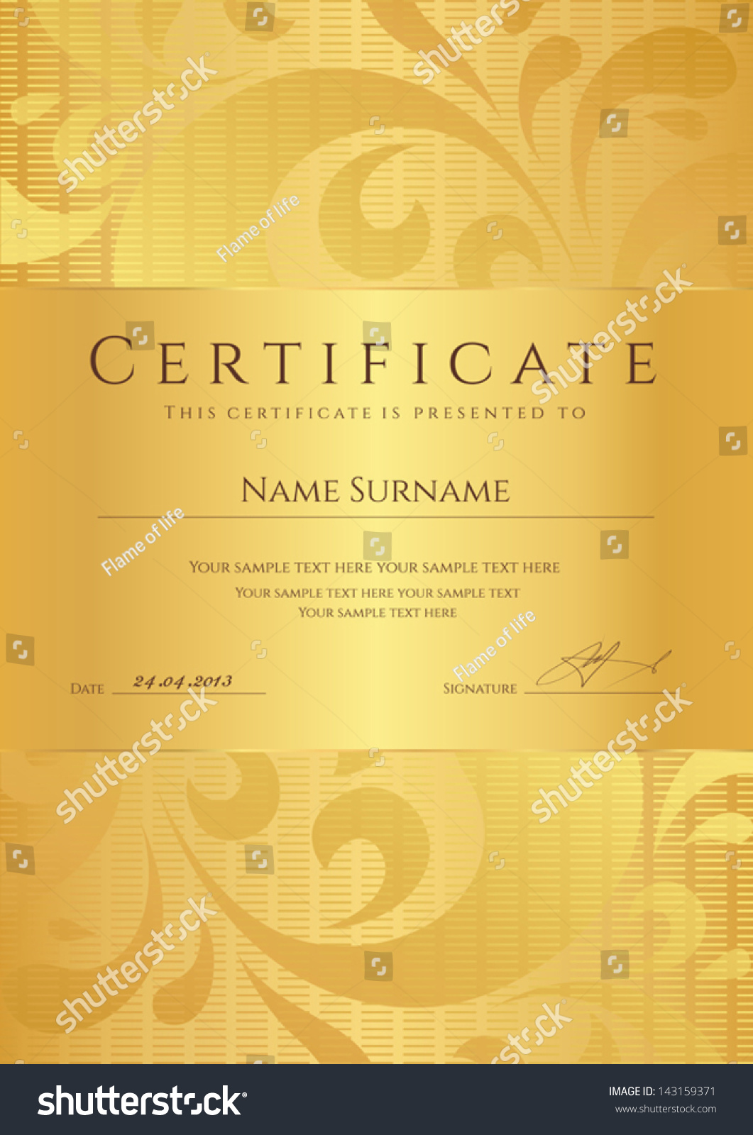 sample certificate of completion template