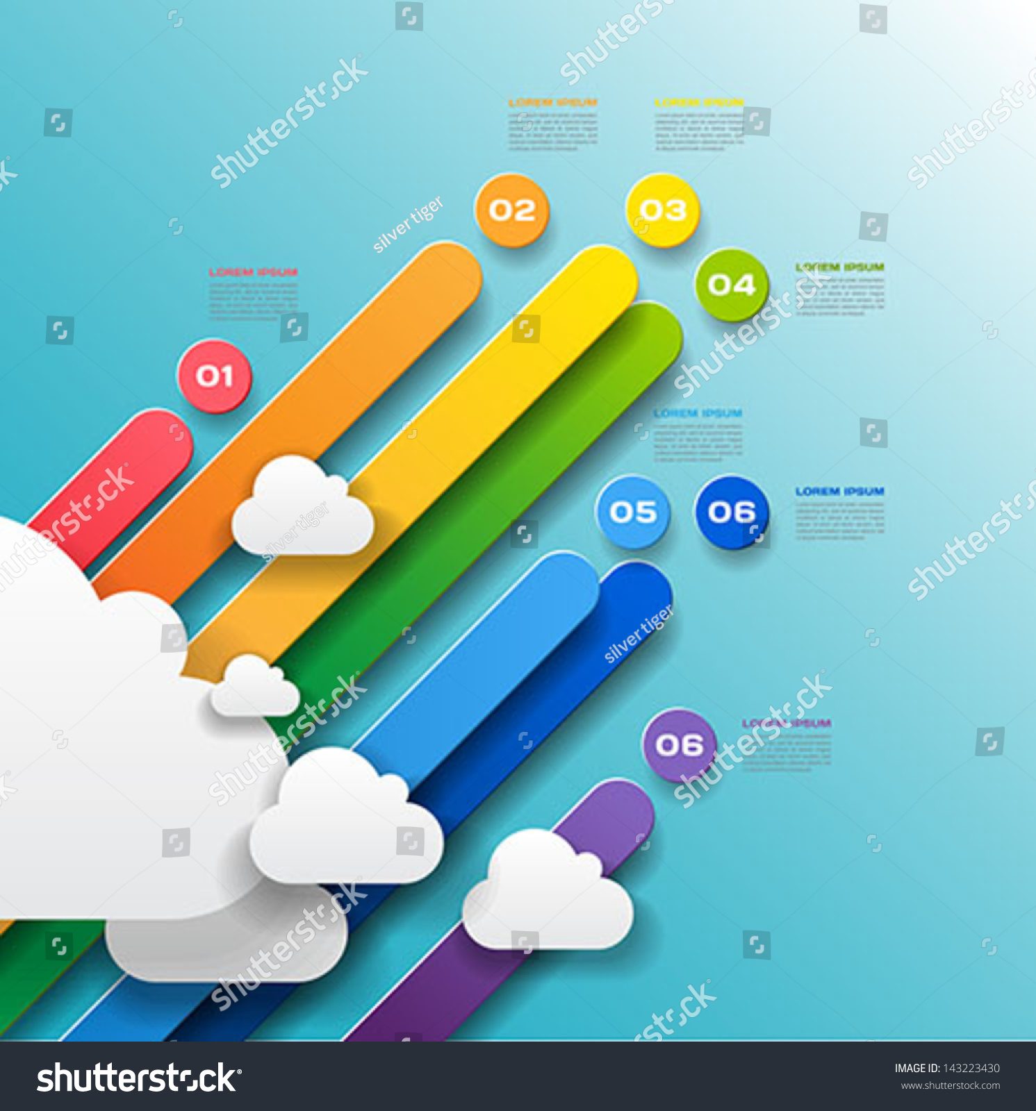 Unusual 3 D Paper Infographics Abstract Colorful Stock Vector ...
