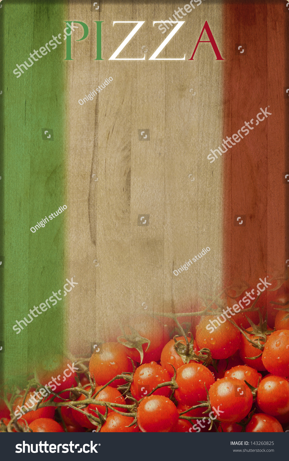 Pizza Menu Background Stock Illustration 143260825