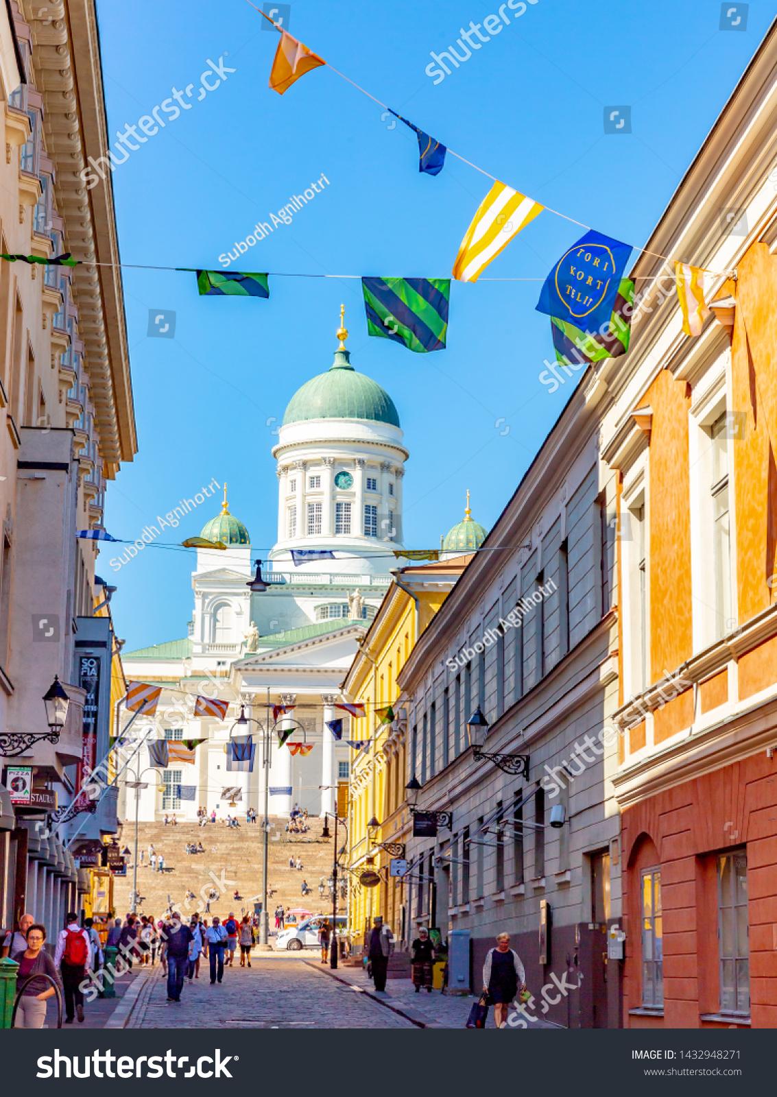 Helsinkifinland 06212019street View Helsinki Cathedral Finland