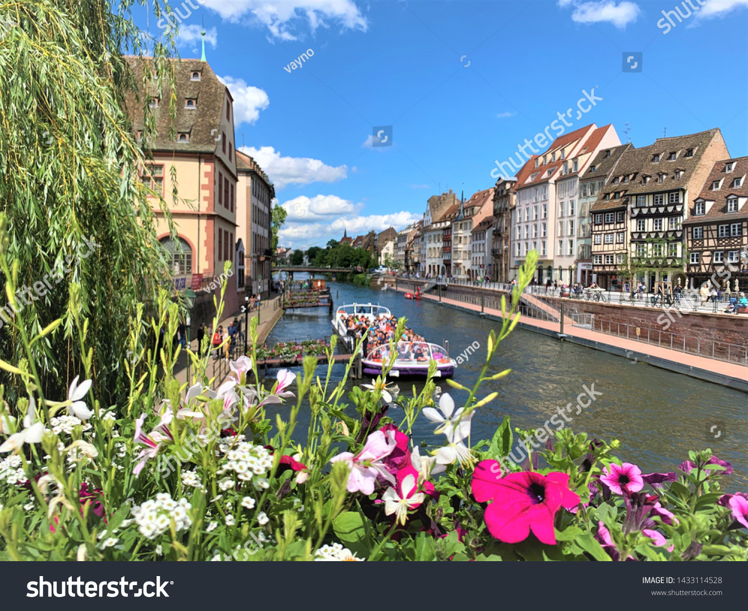 A view from Strasbourg in Alsace region of France