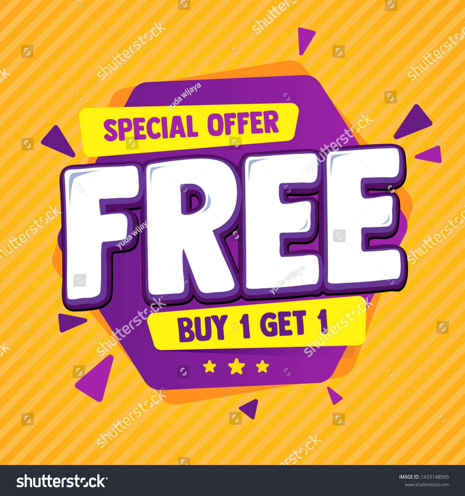 Special offer banner, hot sale, big sale, buy 1 get 1, sale banner vector, purple and orange vector banner