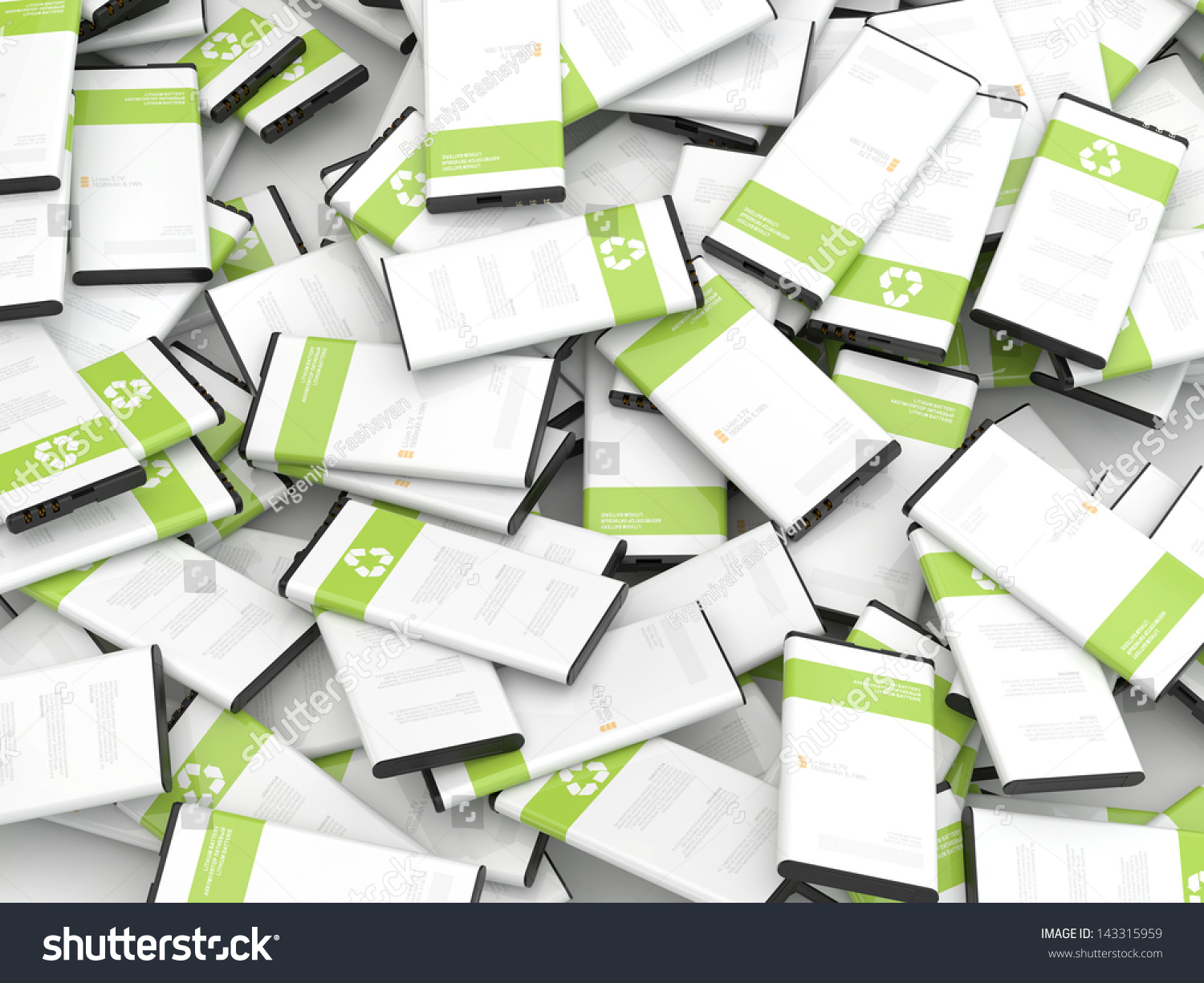 Recycling mobile phone batteries 3d render stock photo 143315959 shutterstock - Recycling mobel ...