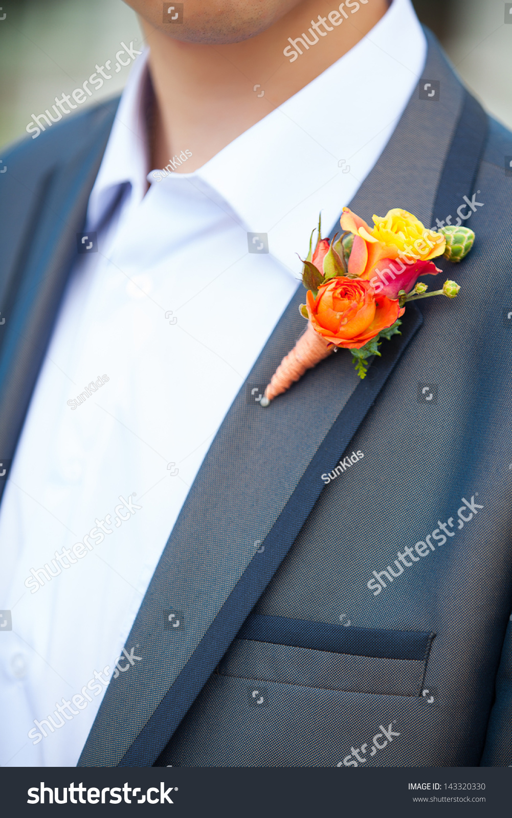 Boutonniere groom - a symbol of celebration
