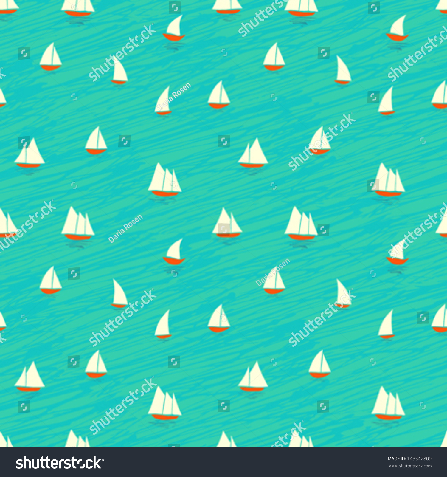 Nautical Home Decor Fabric Nautical Pattern Inspired Small Boats On Stock Vector 143342809