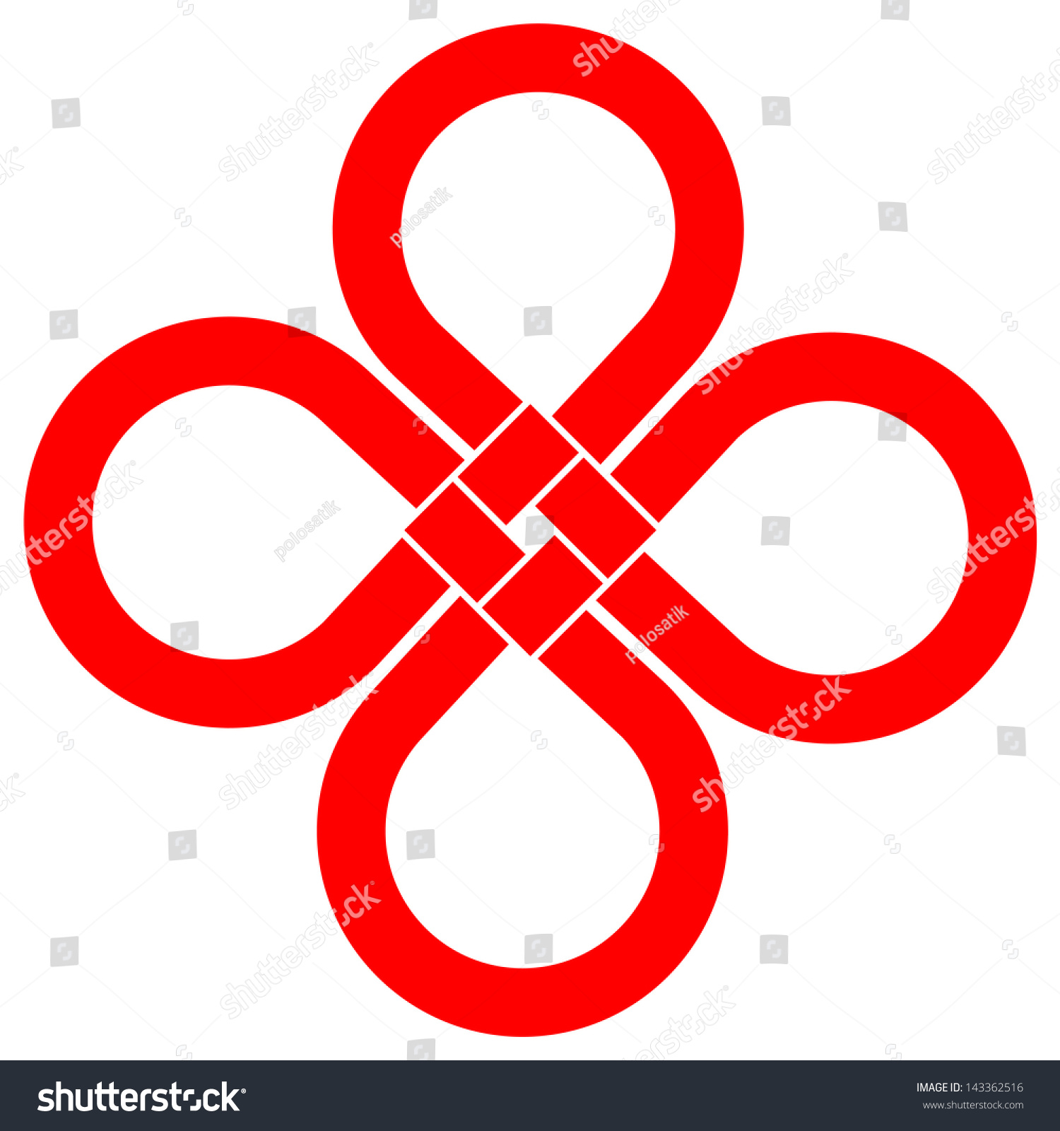 Cloverleaf Knot Good Luck Symbol Your Stock Vector Royalty Free