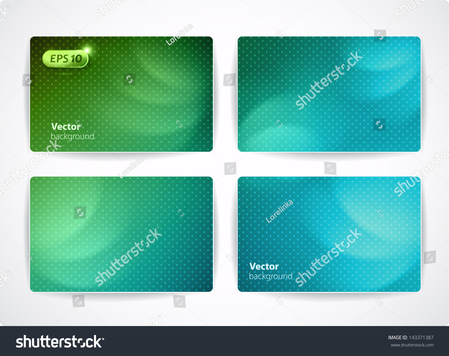 Set Vector Business Cards Credit Discount Stock Vector 143371387 ...