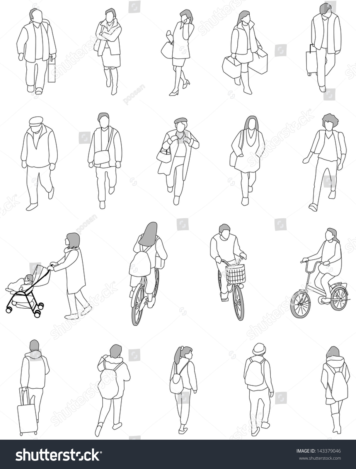 Line Drawing Person : People line illustration imgkid the image kid