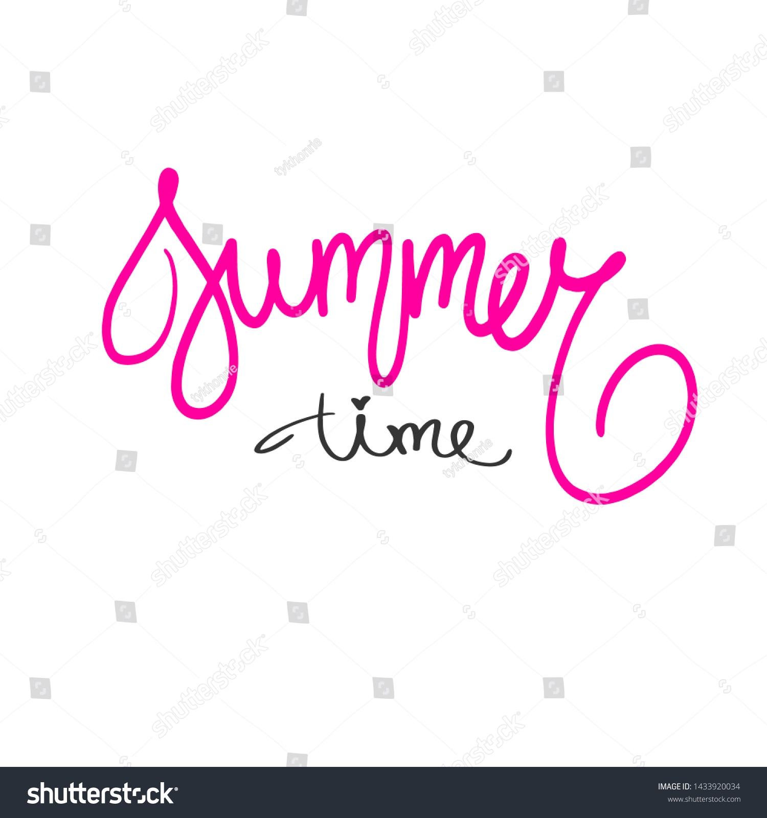 stock-photo-summer-time-red-text-handwri