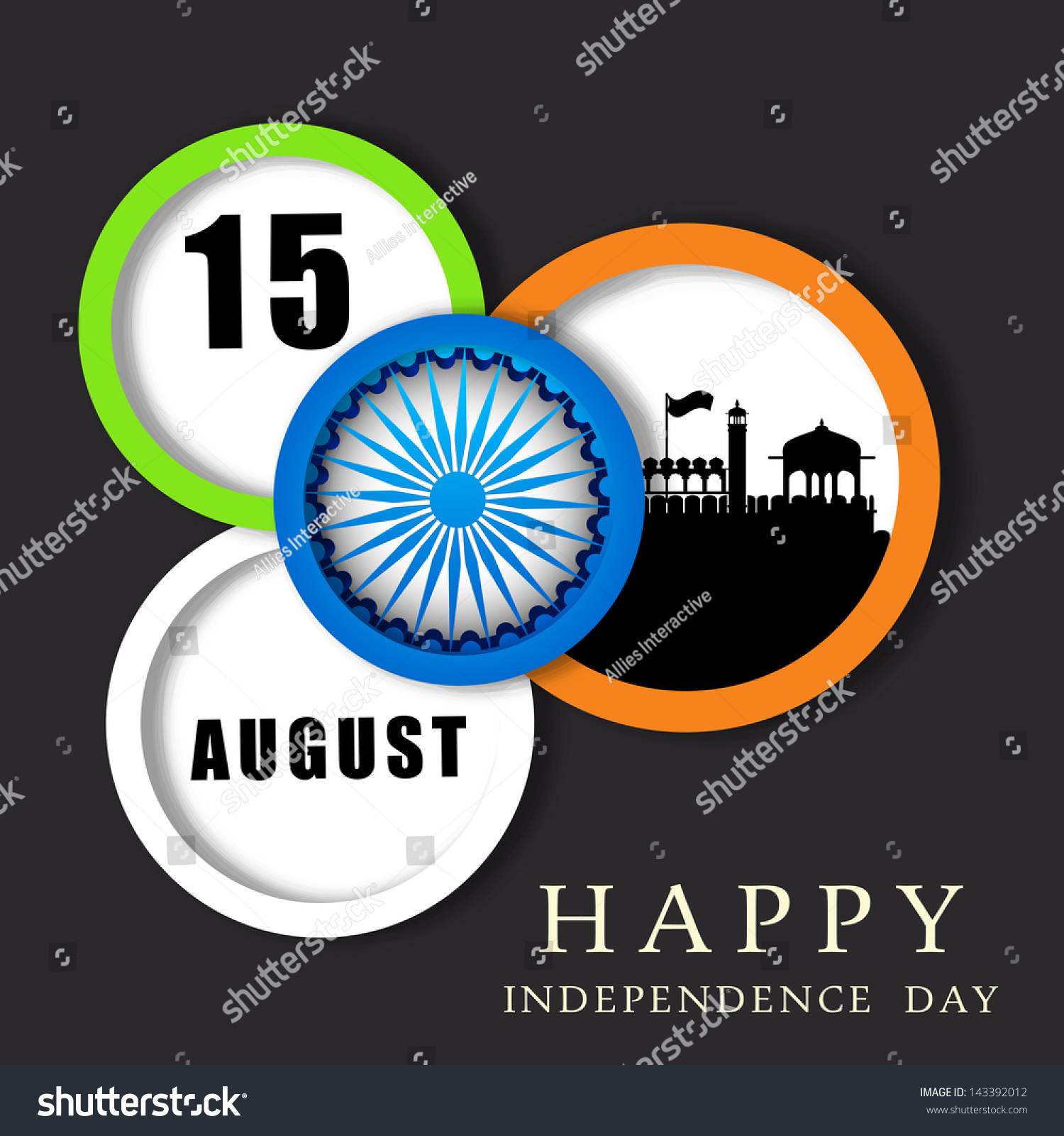 Colors website ashoka - Indian Independence Day Stickers Labels Or Tags In National Flag Colors With Ashoka Wheel