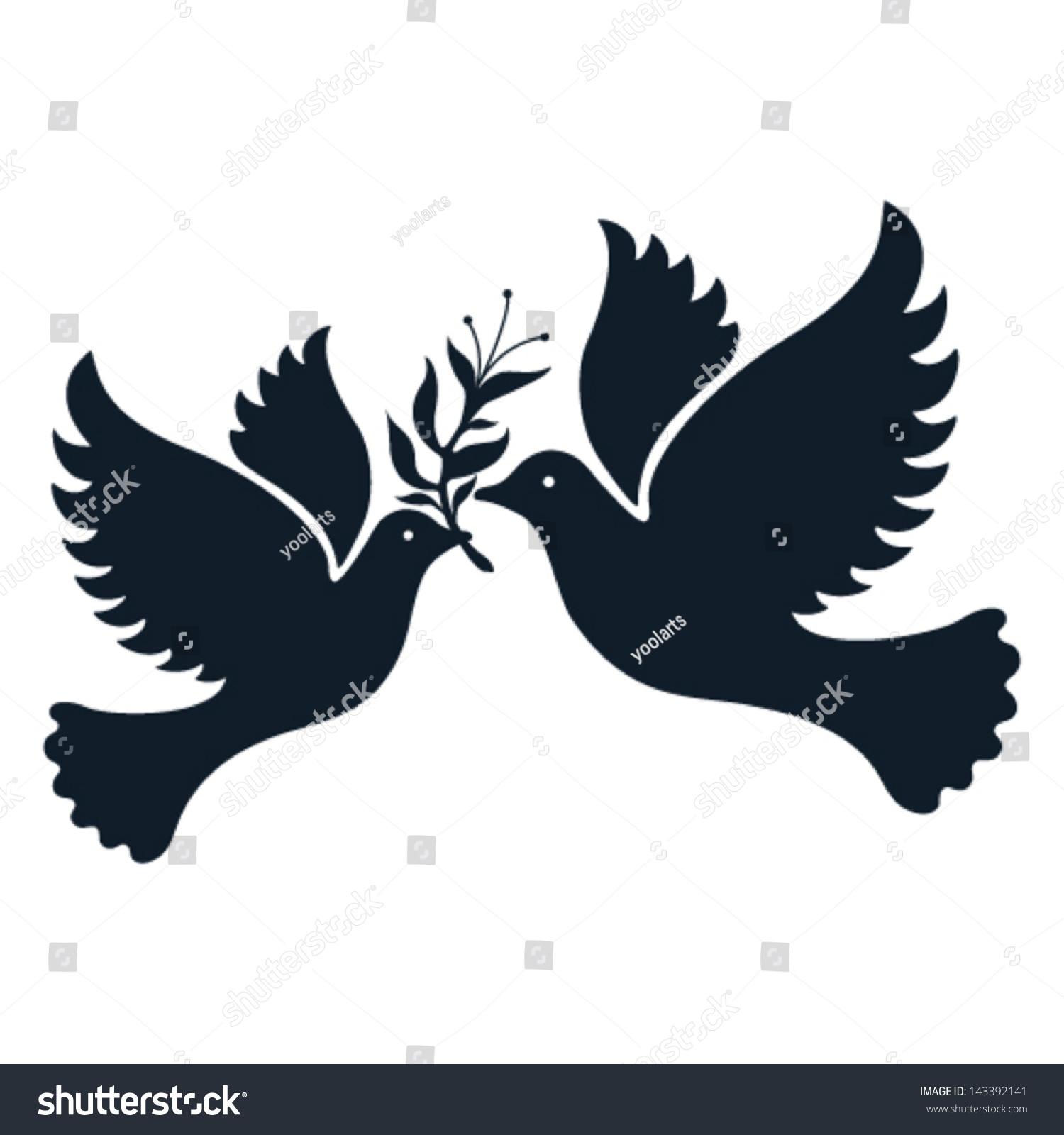 Free Flying Vector White Dove Symbol Stock Vector ...