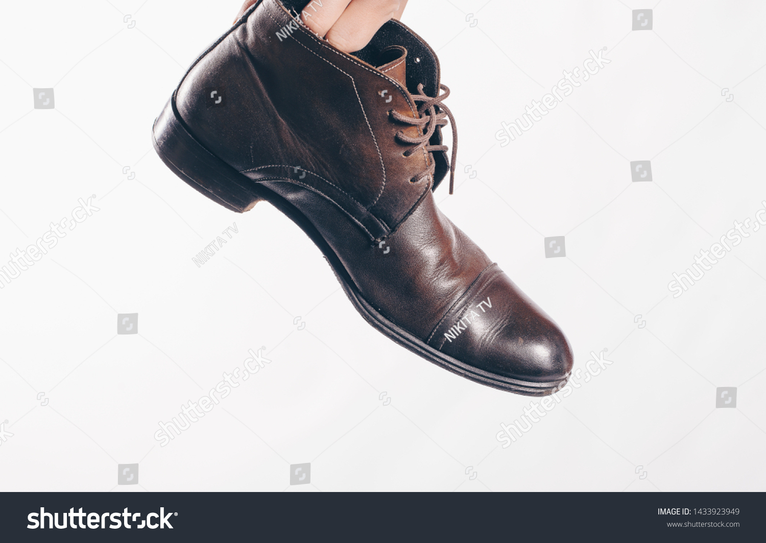 Old Retro Shoes Shoes Man Tools Stock