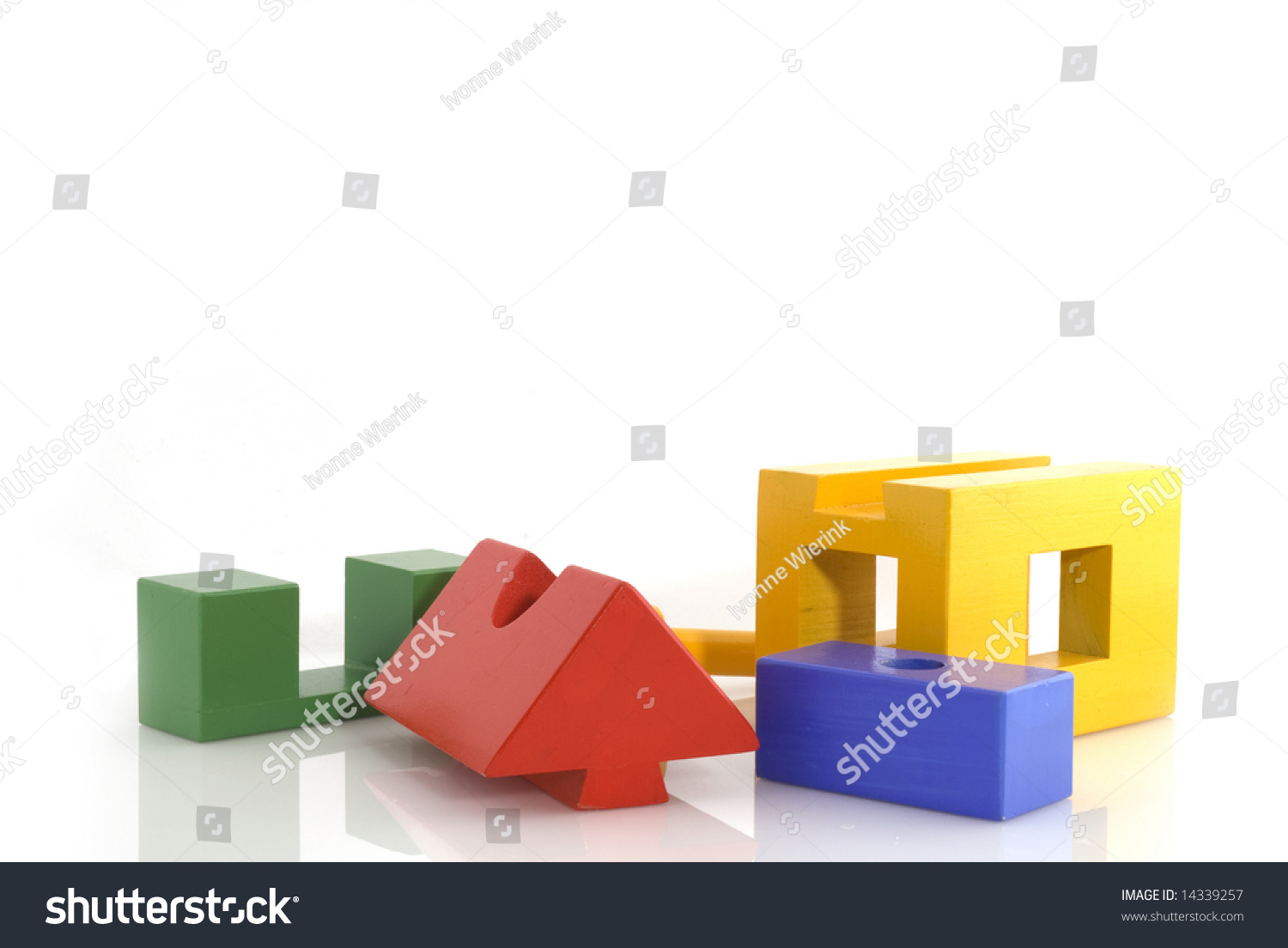 Building a house from construction blocks stock photo for Find a home builder