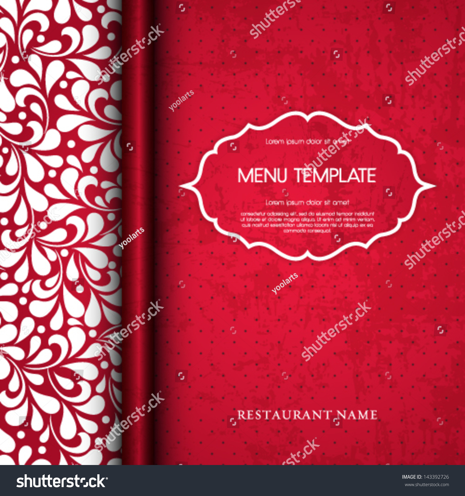 vector restaurant menu cover design stock vector 143392726