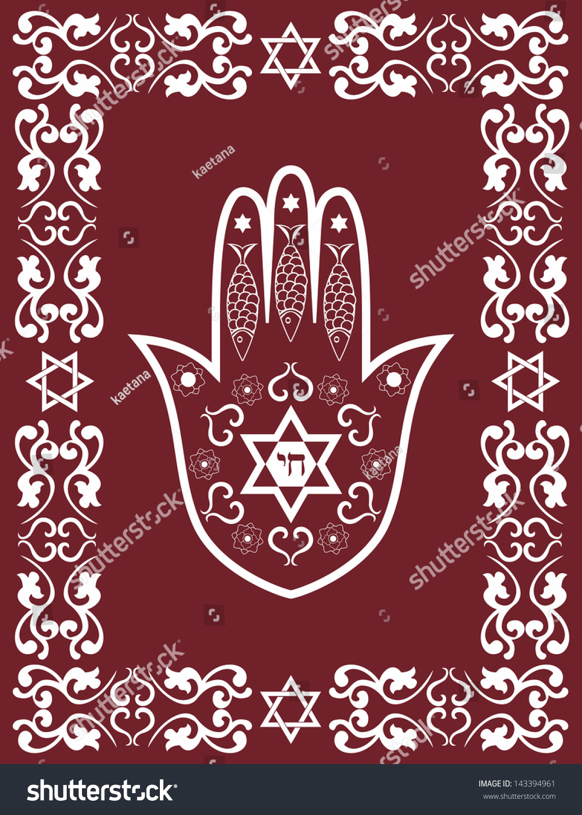 Middle eastern hand symbol view symbol biocorpaavc