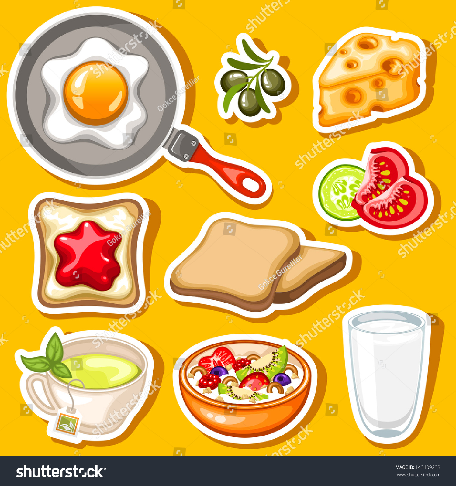 Breakfast Cartoon healthy breakfast stock vectors & vector clip art ...