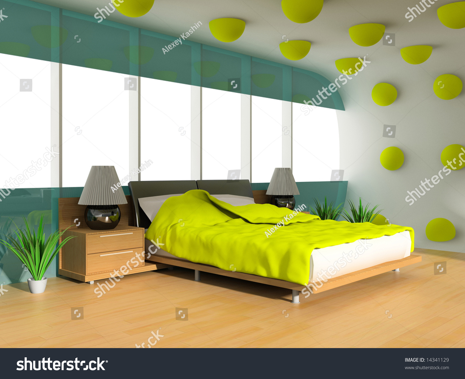Save to a lightbox. Interior Of A Sleeping Room 3d Render Stock Photo 14341129