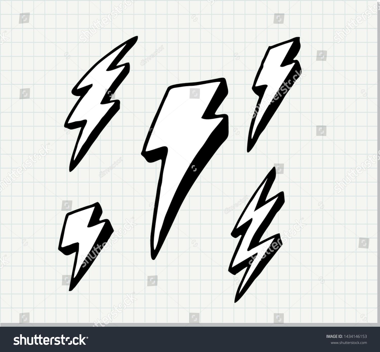 Lightning Bolt Icons Vector Lightning Bolt Stock Vector Royalty ...