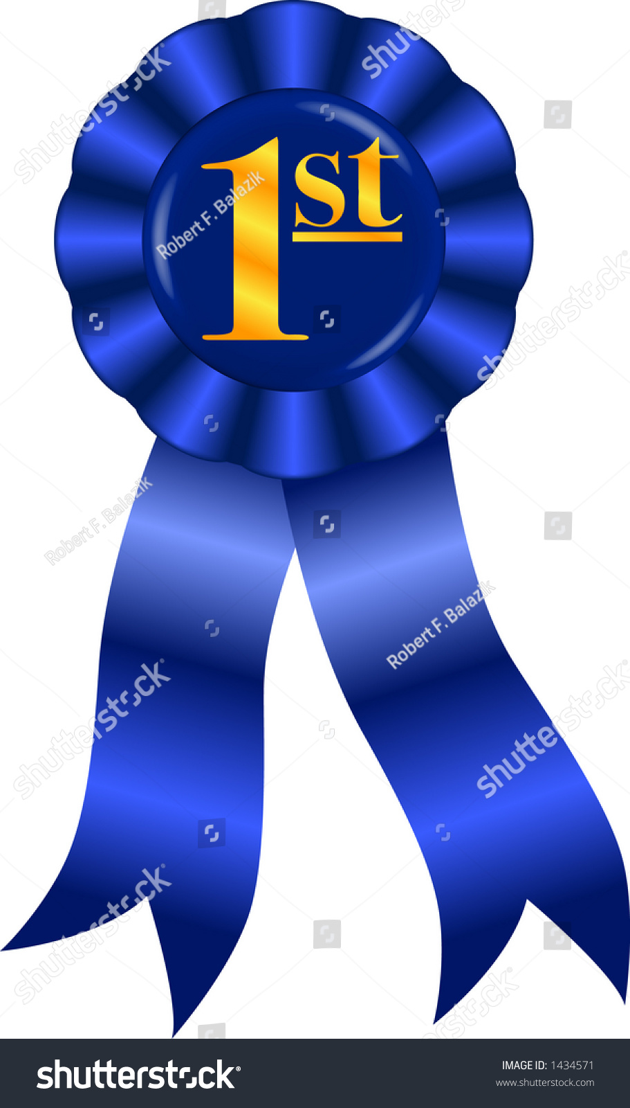 vector graphic depicting blue ribbon award stock vector 1434571 rh shutterstock com first place ribbons clipart first place winner ribbon clip art