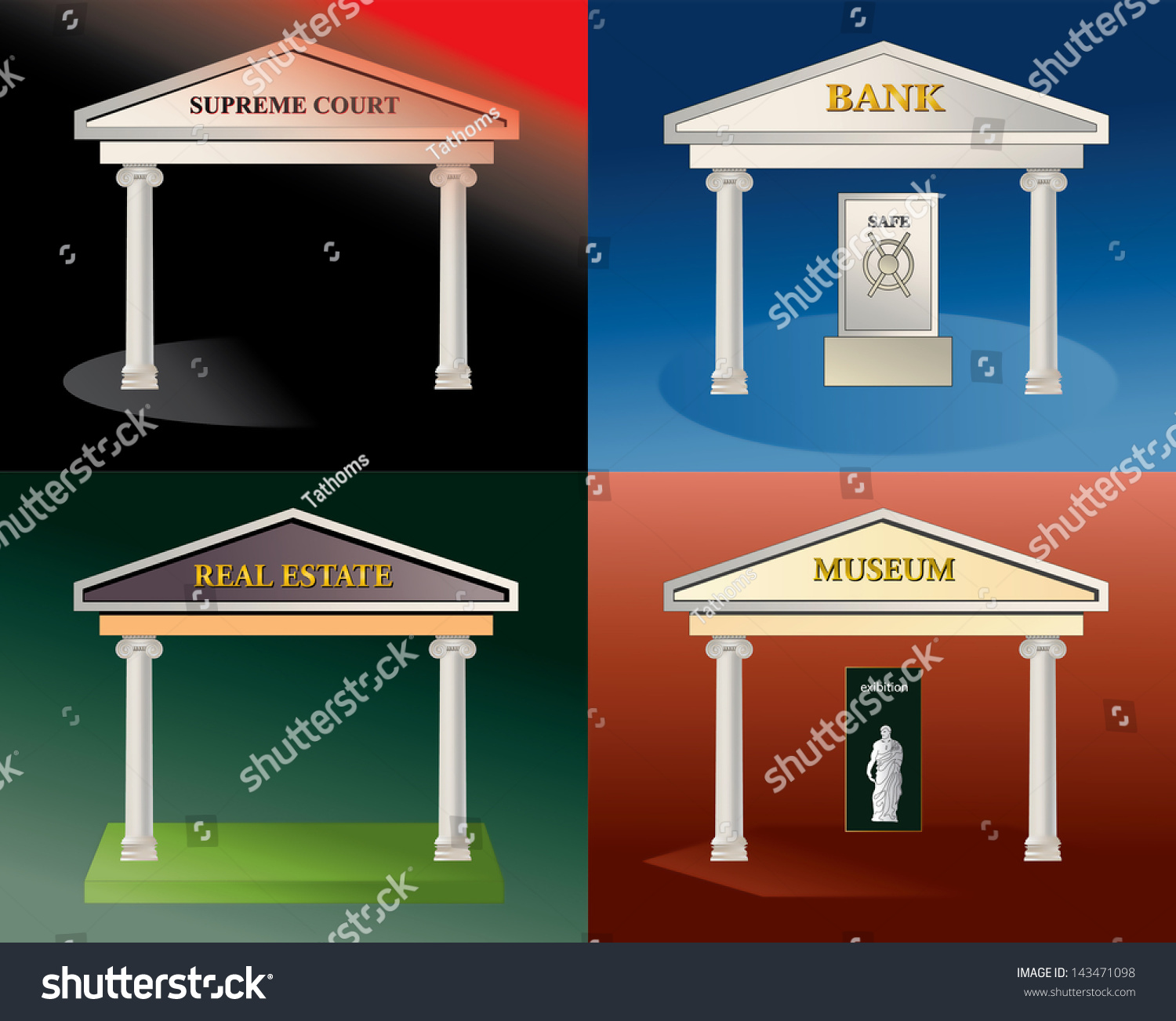 stock-photo-four-icons-illustration-bank