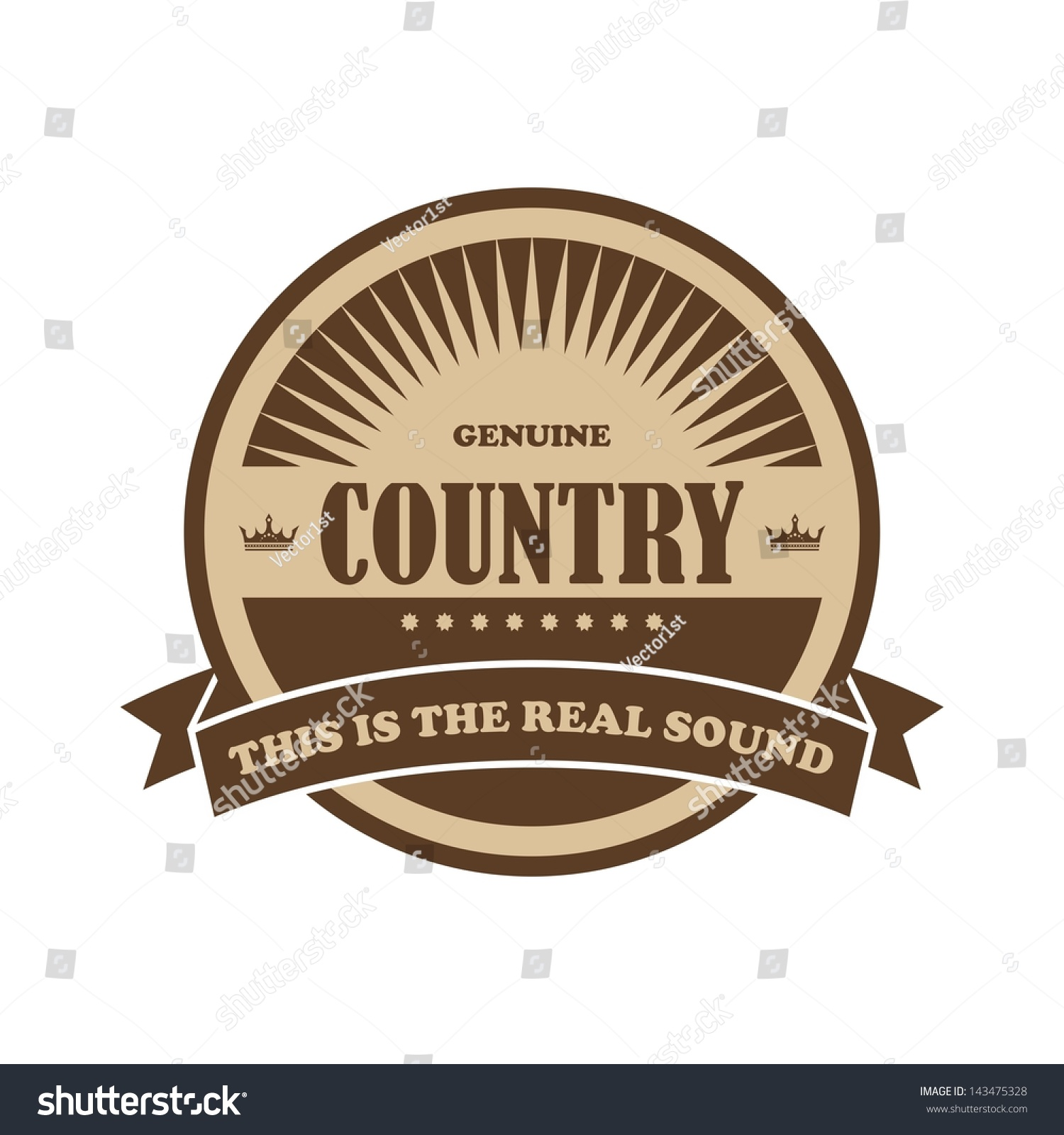 Music Genre Label And Badge Country Stock Vector ...