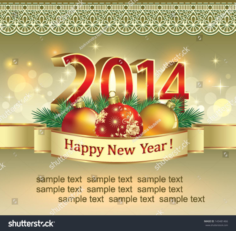 Christmas greeting card 2014 stock vector 143481466 shutterstock christmas greeting card 2014 kristyandbryce Choice Image