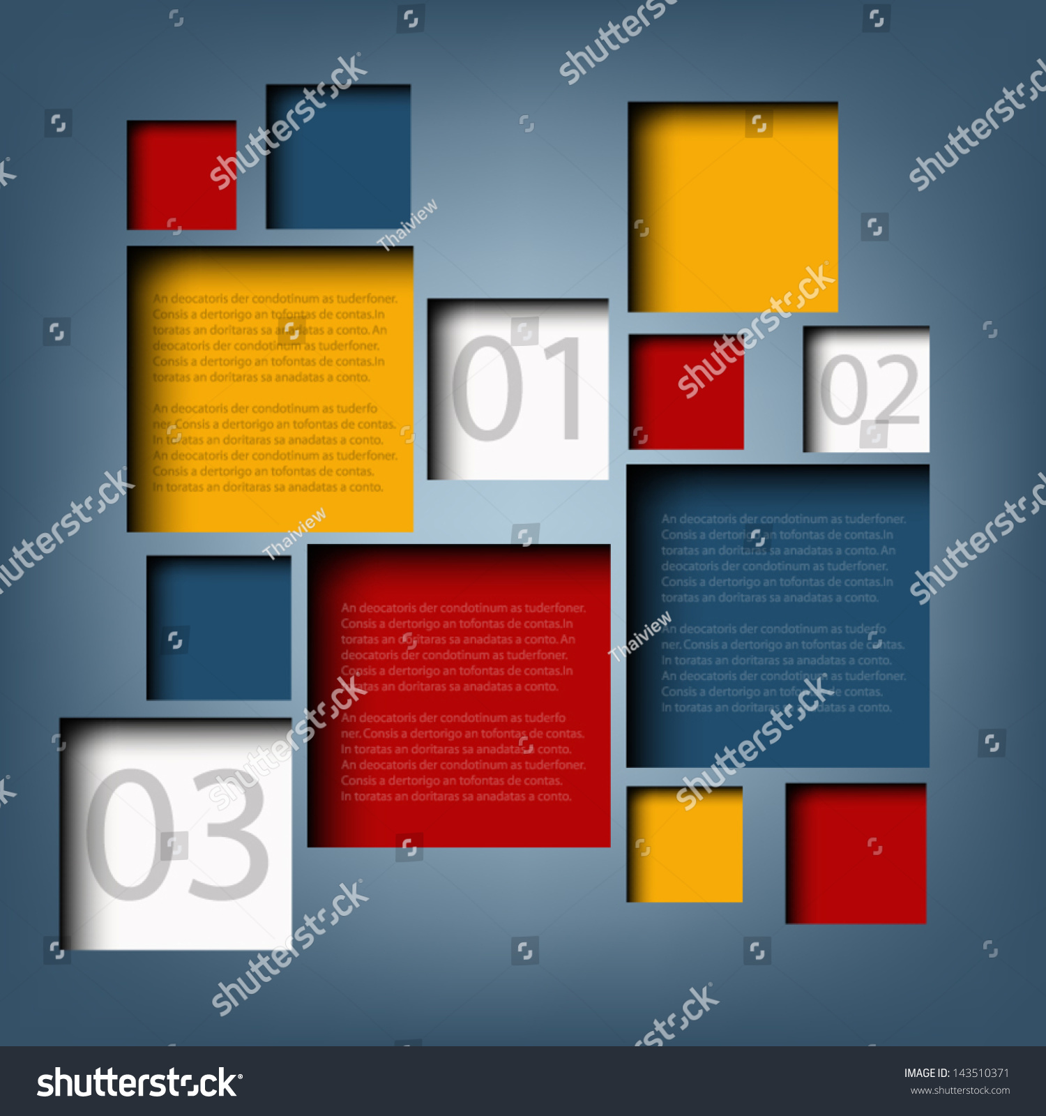 Infographic Background Box Information Board Design Stock