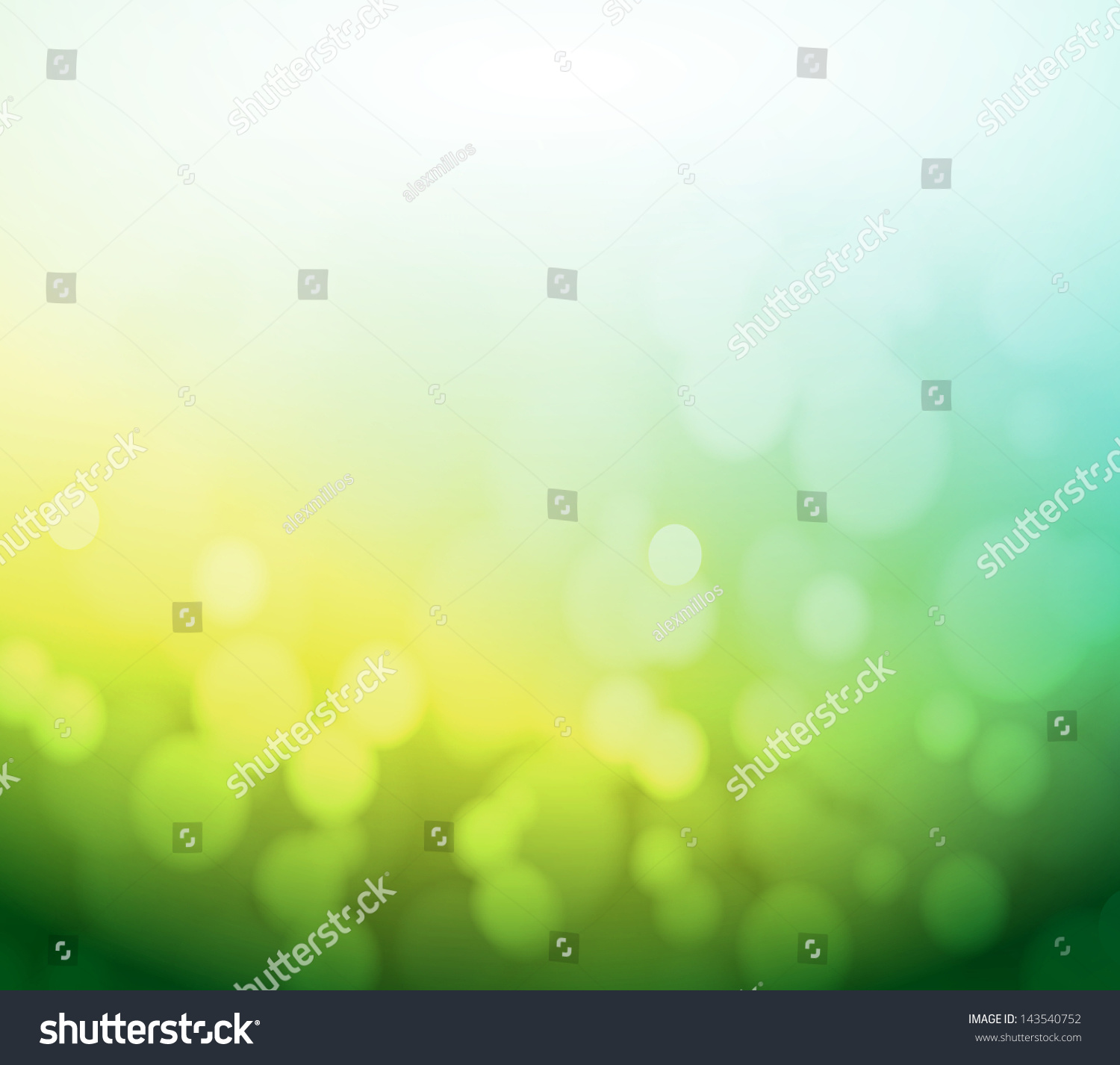 green and yellow bokeh abstract light background
