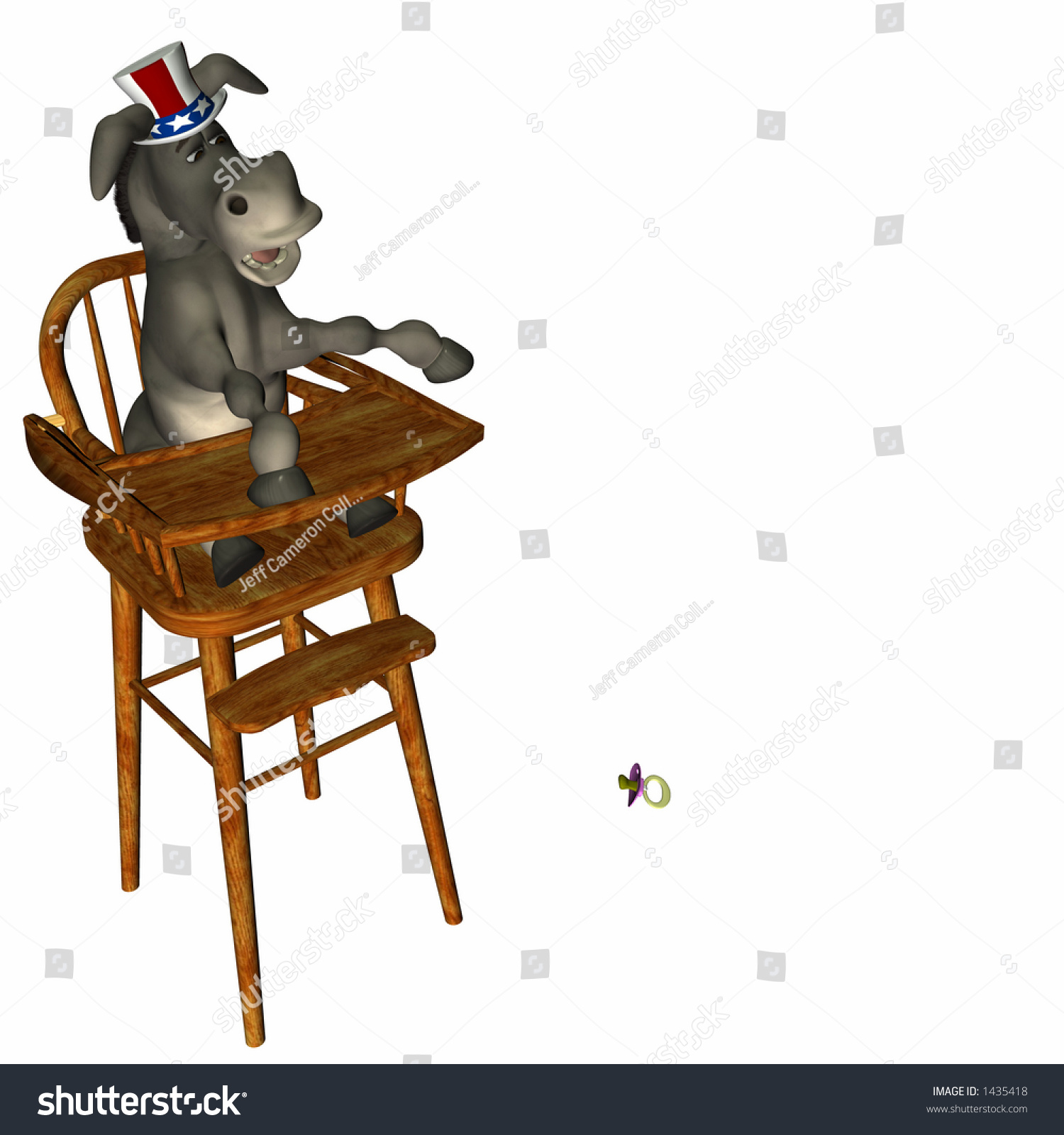 Political Party Donkey High Chair Throwing Stock Illustration ...