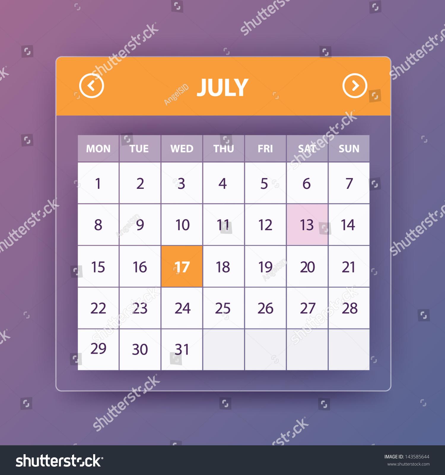 Calendar Flat Illustration : Calendar flat stock vector illustration