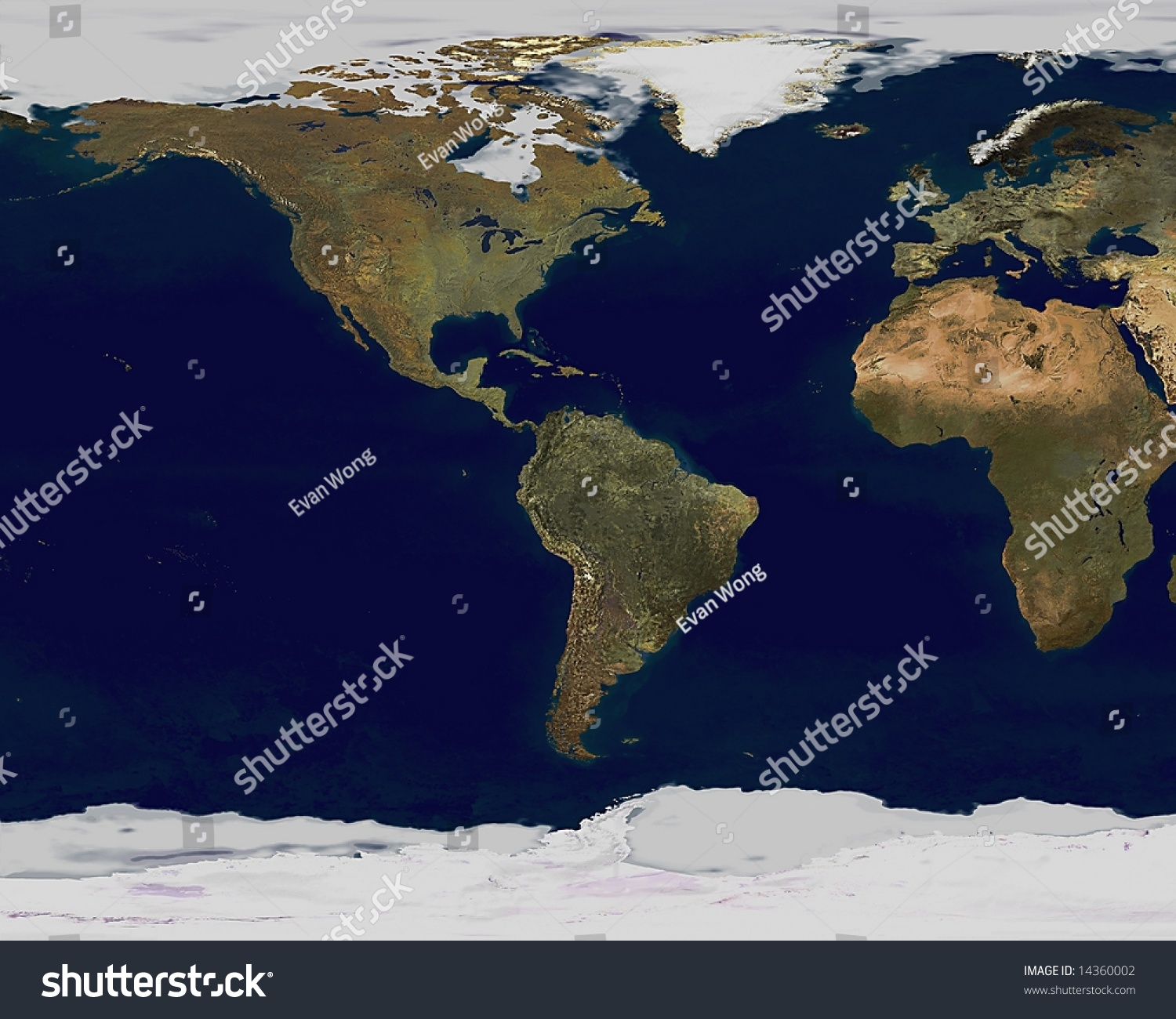 Satellite view global earth map stock illustration 14360002 satellite view of global earth map gumiabroncs Image collections