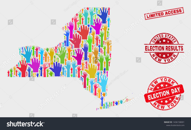 Picture of: Vector De Stock Libre De Regalias Sobre Political New York State Map Seals1436158001