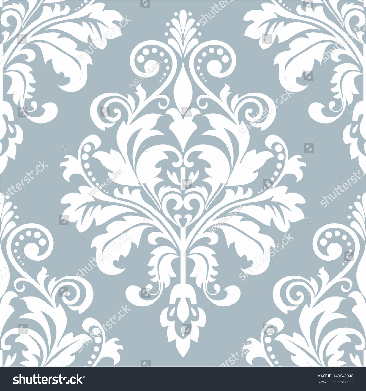 Wallpaper style baroque seamless vector background stock for Baroque style wallpaper