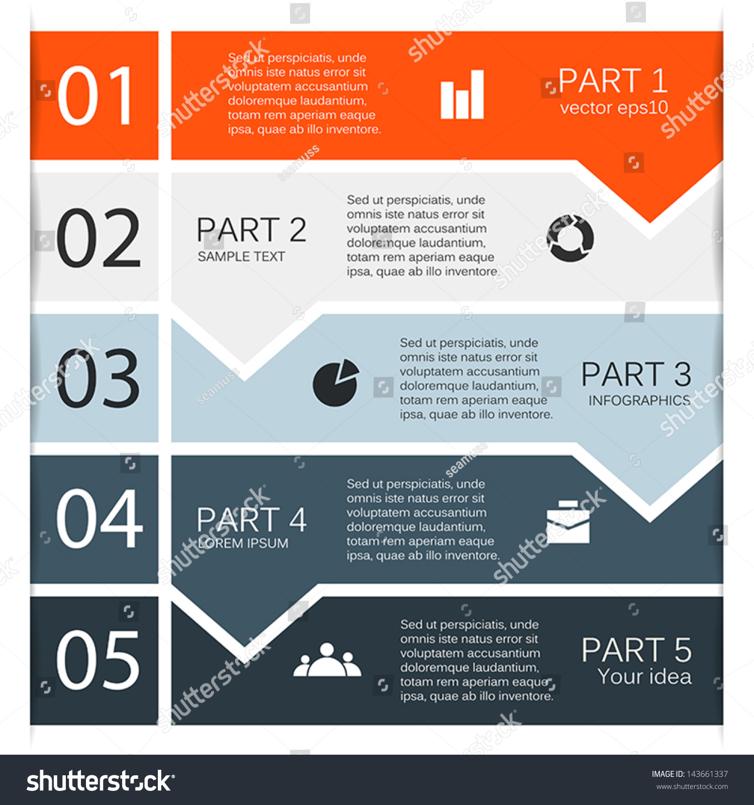 Vector arrows for infographic. Template for diagram, graph ...