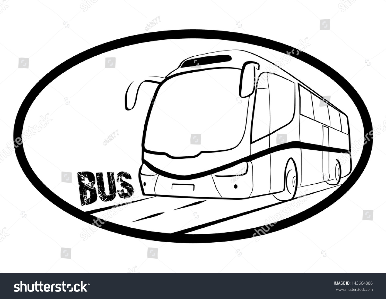 Bus Symbol Black And White Outline Vector