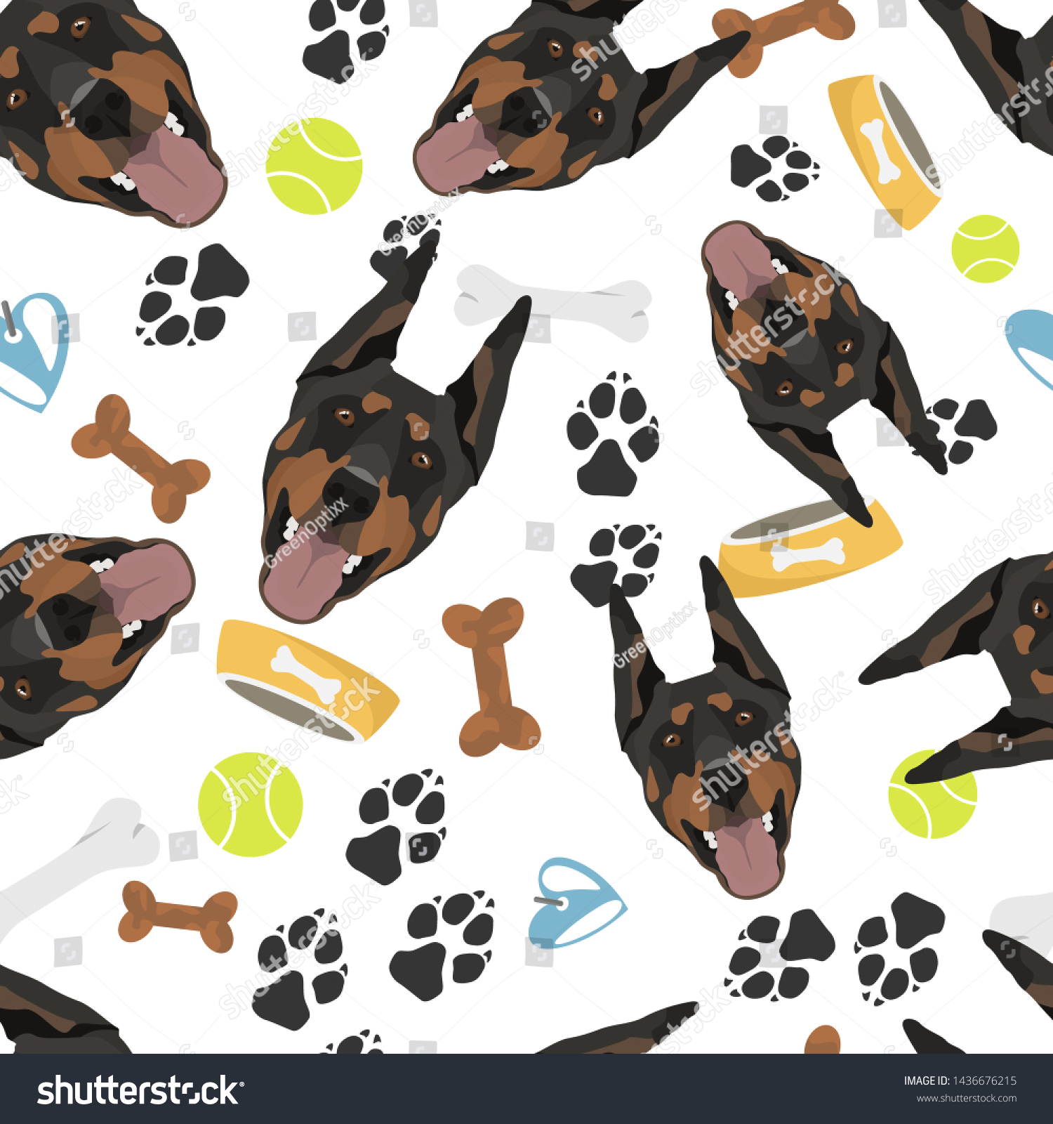 Smiling Dog Doberman Dog Stuff Stock