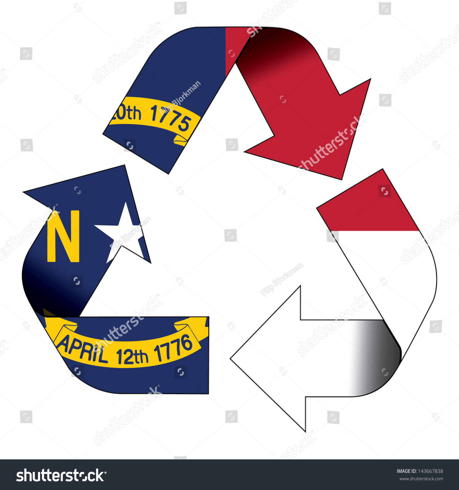 Recycle symbol flag north carolina stock illustration 143667838 recycle symbol flag of north carolina buycottarizona