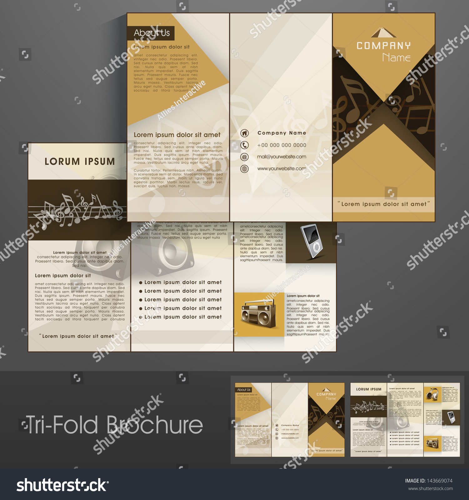 planet brochure template - attractive clinic a3 tri fold brochure template attractive