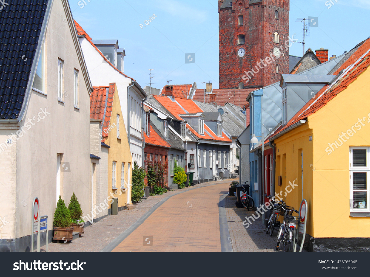 Narrow Streets Small Houses Old Danish Stock Photo Edit Now