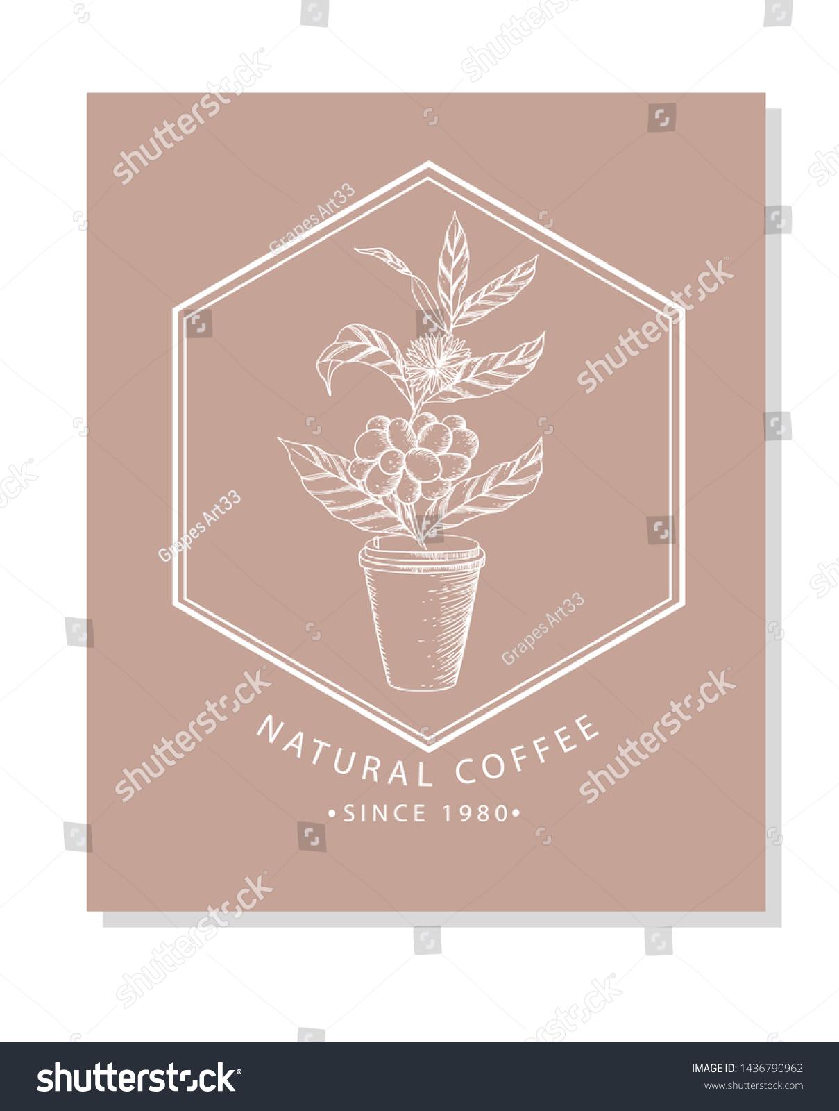 Vector De Stock Libre De Regalias Sobre Linear Logo Design Cafe Bar Restaurant1436790962