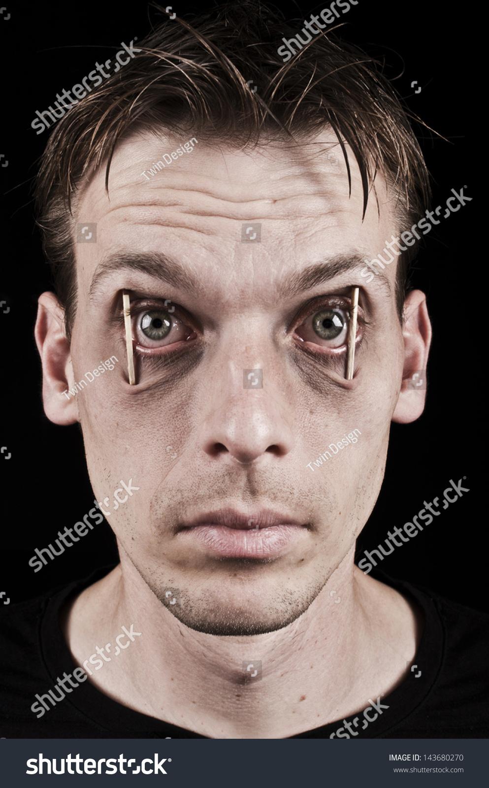 workaholic sleepless man concept staying awake stock photo concept of staying awake