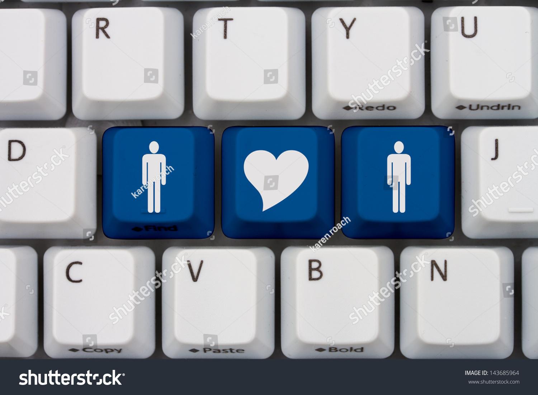 Computer Keyboard Keys Symbols Man Man Stock Illustration Royalty